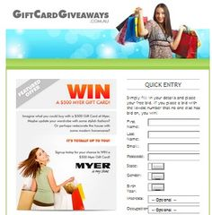 Win A $500 Myer Gift Card!