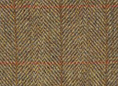 Featherweight Harris Tweed FabricDirect from our mill, HB310-B5 is a rich mustard herringbone cloth with red and rust overchecks. Supplied with official...