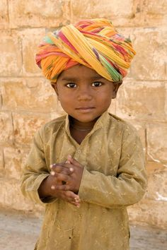 Jaipur cutest little thing (people, portrait, beautiful, photo, picture, amazing, photography, boy, turban, kid, child)