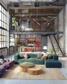 """1,316 Likes, 23 Comments - ⠀⠀⠀         ⠀⠀RANDI MAGELI (@randi_mageli) on Instagram: """"{ thursday mood from this gorgeous loft space in budapest, hungary #interiordesign…"""""""