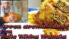 Arroz aromatizado con pollo Tikka Masala. En Tu Salsa.