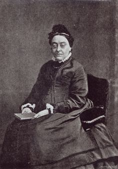 """Christina Rossetti at old age, suffering the effects of Graves disease: """"As regard appearance, she looked a 'total wreck' in William's words: her hair fell out, her skin discoloured, and her eyes bulged."""" [Jan Marsh: Christina Rossetti. A Literary Biography]"""