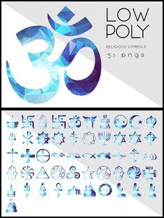 Low Poly Religious Symbols