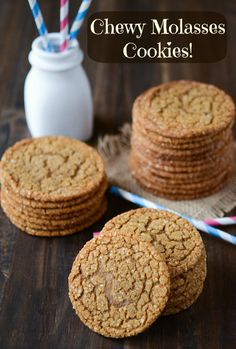 Chewy Molasses Cookies-- didn't like the thinness of these cookies, but their advantage is no chilling time. they end up on the ginger-snap side of things since they're so thin and gingery. definitely chewy, even when cooked for a while. others liked these more than i did.