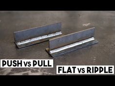 In this video I'm doing an experiment with short circuit mig. Push vs pull or drag, and a flat weld bead vs a weave or ripple. Mig Welding Tips, Cool Welding Projects, Welding Jobs, Diy Welding, Metal Welding, Metal Projects, Lathe Projects, Blacksmith Projects, Woodworking Projects