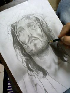 Desenho Realista Jesus Cristo