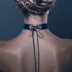 GLORIA. VELVET CORSET CHOKER - REGALROSE | SHOP Fashion Jewellery & Accessories