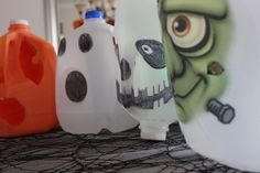 Milk jug crafts are so easy and fun! #Halloween #ad