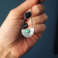 These little opal setting sun pendants flew out of the shop. I'll be making more at some point, including one for myself! Opal Necklace, Silver Chain Necklace, Boho Necklace, Boho Rings, Womens Jewelry Rings, Women Jewelry, Unique Jewelry, Silver Work, Turquoise Pendant