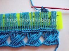 Crochet Russian broomstick Lace Technique - Tutorial.