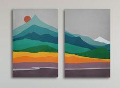 Modern Art Prints, Modern Wall Art, Wall Art Prints, Multiple Canvas Paintings, Cuadros Diy, Grand Art Mural, Mid Century Wall Art, Abstract Wall Art, Abstract Paintings