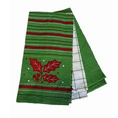 Rich Home Christmas Kitchen Towel Set 3PK, Christmas Holly Rich Home http://www.amazon.com/dp/B016V99QWG/ref=cm_sw_r_pi_dp_KZOjwb0TDAYPK