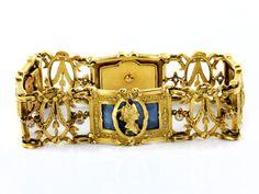 Länge: ca. 18,5 cm. Breite: ca. 1,8 cm. Gewicht: ca. 48,8 g. GG 750. Frankreich, um 1860. Außergewöhnliches feines Armband mit durchbrochen gearbeiteten...