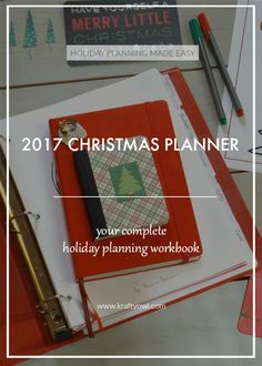 2017 Christmas Planning Workbook | the Krafty Owl