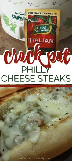 Looking for beef Crockpot meals? Crock pot hearty meals don't get much better than these Crock Pot cheesesteak sandwiches! Sandwiches for dinner AND a delicious Philly cheese steak Crock Pot recipe? Crockpot Dishes, Crock Pot Cooking, Easy Crock Pot Meals, Dump Crockpot Meals, Cockpot Meals, Philly Cheese Steak Crock Pot Recipe, Crock Pot Steak, Crock Pot Sandwich Recipes, Steak Meals