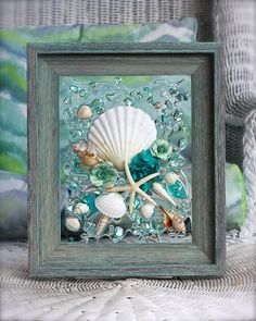 #Mother'sDayGift #SeaGlass, #WallArt, #BeachGlassArt, #HomeDecor, #SpringDecor, #IrishScallop, #FlowerArt, #BeachDecor, #SummerArt, #RobinIngles, #SeasideCreations1