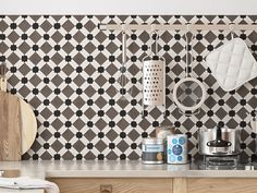 casa 1 zementfliesen in der k che fl che cha072 rand. Black Bedroom Furniture Sets. Home Design Ideas