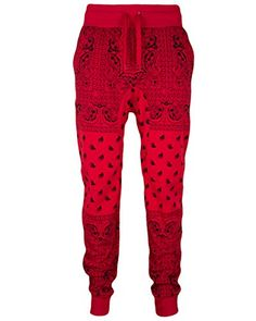 Mens Fleece Bandana Paisley Joggers Drawstring Jogger Pants (S, Red) Private Label http://www.amazon.com/dp/B00PZ8C1W2/ref=cm_sw_r_pi_dp_SIppvb0KE3ACR