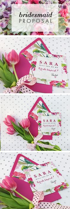 This beautiful personalized floral 'Will You Be My Bridesmaids Card' will add a unforgettable touch to your wedding.
