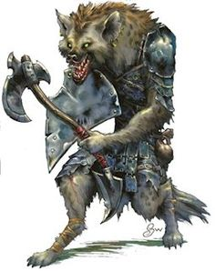 Always loved this Gnoll artwork. Simple but precise.