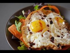Sunnyside Salad (Crispy Fried Eggs on Greens) | Award-Winning Paleo Recipes | Nom Nom Paleo®