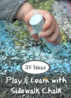 Sidewalk chalk activities, including lots of ways to move and learn! Check out our favorite sidewalk chalk paint recipe, and join in the fun! Summer Activities For Kids, Summer Kids, Learning Activities, Preschool Activities, Outdoor Activities, Kids Learning, Summer Games, Kinesthetic Learning, Time Activities