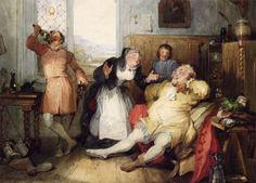 "Francis Philip Stephanoff, ""Falstaff and Mistress Quickly"", c. 1840."