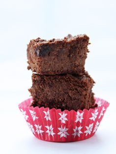 Cauliflower Chocolate Brownies - low carb, low calorie, and super delicious!  Sshhhh...it'll be our secret!  A low carb, gluten free, keto, lchf and Atkins diet friendly recipe.