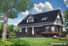 Projekt domu Kaprys Polo to mała rezydencja z podpiwniczeniem i garażem dwustanowiskowym