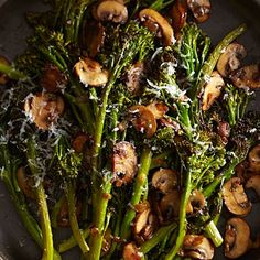 Roasted Broccolini with Winey Mushrooms: this #fall #superfood is made more delicious with #mushrooms  | Health.com