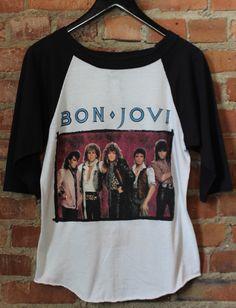 2429eea0782ec0 Vintage Bon Jovi Concert T Shirt 7800º Fahrenheit 1985 Jersey Tee Small