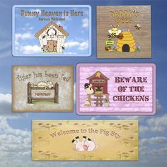 Glossy custom-made signs for your furry friends: remember to ask us to add your pet's name.