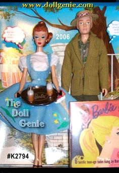 Friday Night Dream Date Barbie doll and Ken doll Giftset is a fabulous reproduction of two beloved retro looks. Barbie doll is dressed in a re-creation of Friday Nite Date Girl Dolls, Barbie Dolls, Ken Doll, Barbie And Ken, Retro Look, Singing, Lunch Box, Teen, Disney Characters