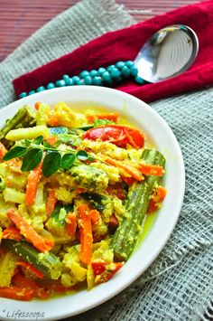 Aviyal avial kerala style aviyal sadhya special aviyal kerala style avial mixed vegetables in coconut and yogurt sauce forumfinder Choice Image