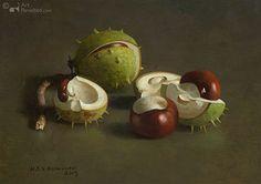Kastanjes by Henk Helmantel 17.5 x 25.0 cm - Olieverf op paneel - 2013