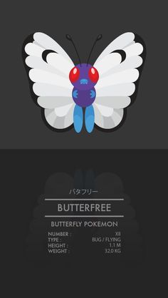 Butterfree by WEAPONIX on deviantART
