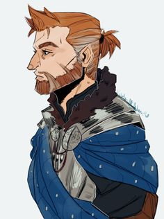 "kay-jo-mackie: "" Another Older!Alistair doodle…I want nothing more than for Alistair to become a well respected Gray Warden Veteran. """