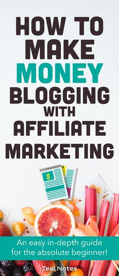 Looking for an in-depth guide on everything you need to know about affiliate marketing for complete beginners? Look no further! Not only does the guide list the programs you can join today to get started making passive income at home, it also has marketing tips for bloggers to supercharge their affiliate earnings and make a real income. Check out the guide for easy step-by-step set up. Teal Notes | Easy Beginner Affiliate Marketing | Make Money Blogging|