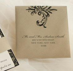 Digital Calligraphy and Custom Envelope Address Printing., via Etsy.