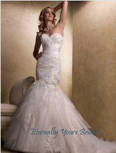 360.99$  Watch here - http://viuok.justgood.pw/vig/item.php?t=nq42pc11527 - Glamorous Mermaid Sweetheart Chapel Train Organza Wedding Dress 360.99$