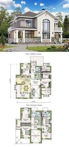 """""""Golitsyn"""" - ein elegantes Häuschen mit einem doppelten Innenhof - Проекты домов в исторических стилях - Small House Layout, House Layout Plans, Small House Plans, House Layouts, Pool House Designs, Sims House Design, House Front Design, Sims House Plans, House Floor Plans"""