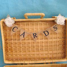 navy burlap ivoy wedding tables | navy burlap wedding | ... Ivory Rose and Burlap Card Banner I151 ...