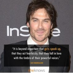 Ian stands up for women