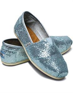 TOMS - Blue Women's Glitters - Shoes
