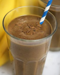 Cherry Chocolate shake: almond milk, spinach, frozen banana, frozen cherries, avocado, and cocoa powder