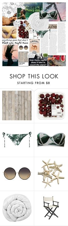 """""""I just wanna stay in the sun where I find I know it's hard sometimes. Pieces of peace in the sun's peace of mind"""" by alexiahoran3 ❤ liked on Polyvore featuring Piet Hein Eek, Mara Hoffman, Beach Riot, Matthew Williamson, Brinkhaus, Pier 1 Imports and Luli"""