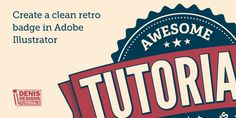 Create a clean retro badge in Adobe Illustrator #illustrator