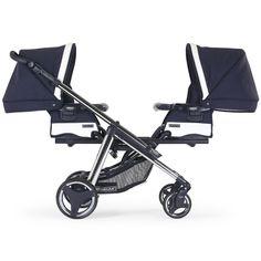 """#Kinderwagen für #Zwillinge in blau für Jungen Farbe: celestial blue EM307 - Unser Bébécar #Zwillingswagen eignet sich auch für #Geschwister unterschiedlichen Alters. Der """"One & Two"""" wird mit 2 flexiblen Aufsätzen ausgeliefert, die jeweils als Wannenaufsatz genutzt oder zum Sportwagensitz umgebaut werden können. http://baby-lucien.de/Produkte/Schlafen/Zwillingsbedarf/Zwillingskinderwagen-One-Two-EM307-celestial-blue::146.html"""