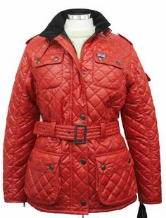 Hunter Outdoor Womens Chelsea Jacket - Red 100 POLYIMIDE QUILTED OUTER WITH A 100 POLYESTER FLEECE LINER LIGHT WEIGHT MULTI POCKETED FULLY TAILORED