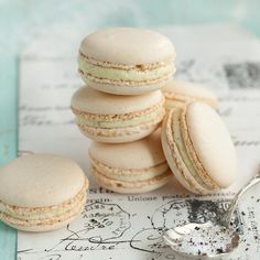 Macarons à la noisette (Haselnuss Macarons) backen macarons rezepte nachspeisen Französisch Kochen by Aurélie Bastian Macaron Cake, Macaron Cookies, Cupcake Recipes, Baking Recipes, Cookie Recipes, Vanilla Macarons, Coffee Cake, Chocolate Recipes, Sweet Recipes